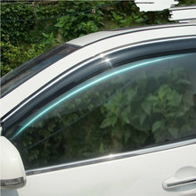 4 Pcs Set 2008 2013 QASHQAI Wind Rain Sun Guards Visor Vent Awnings Shelters for Nissan