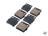 6 Pcs Semi Metallic Motorcycle Front Rear Disc Brake Pads Brake Disks Case For HONDA ATV