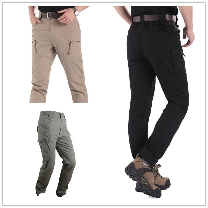 ФОТО Urban Tactical Pants IX9 Mens Military Combat Assault Outdoor Sport SWAT Training Army Trousers 97% cotton 3% Spandex YKK zipper