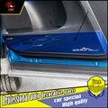 Para toyota rav4 2014 2015 2016 coche puerta de acero inoxidable cubierta decoración protección anti-kick pad puerta anti fouling car-styling