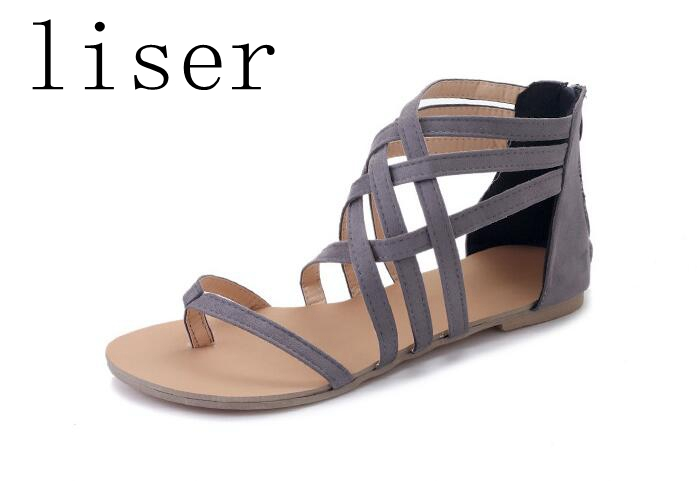 라이저 플랫 여름 여성 샌들 새로운 패션 숙녀 - 여성 신발