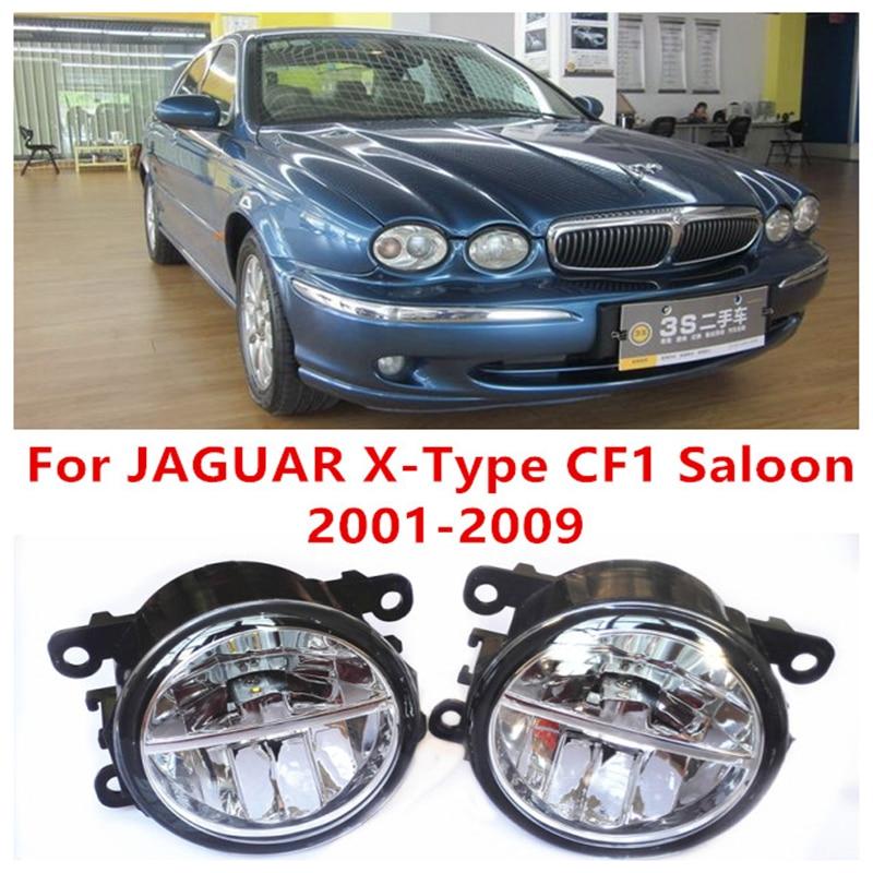 For JAGUAR X-Type CF1 Saloon 2001-2009  10W Fog Light LED DRL Daytime Running Lights Car Styling lamps for jaguar s type 1999 2008 led lamps fog light lights car styling 1 set