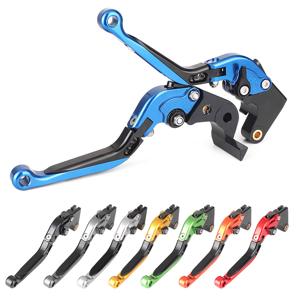 CNC Adjustable Folding Extendable Motorcycle Brake Clutch Levers For MOTO GUZZI BREVA 750 & V7 Racer / Classic / Stone / Special