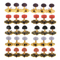 Classical Guitar Tuning Pegs Keys Machine Heads Tuners 3R3L 5 Sets Gold Black