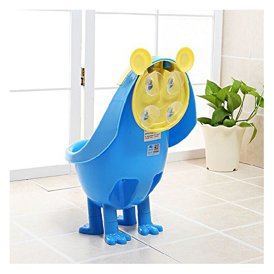 JFBL Baby Boys Urinal Potty Traing Stand Vertical Urinal Groove with Funny Aiming Target (Blue)