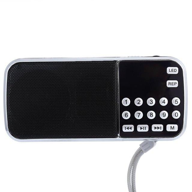 L-088 Портативный Fm-радио Спикер Музыкальный Плеер Встроенный Фонарик Радио с TF Карта USB AUX Вход 3.5 ММ Разъем Для Наушников радио