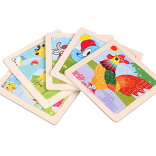 Toys For Children Colorful Wooden 3D Puzzle Animal Educational Developmental Kids Training Toy Baby Birthday Christmas Gift D18 стоимость