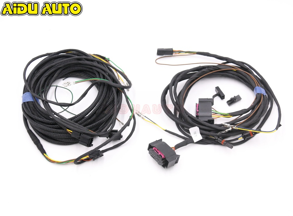 Side Assist Lane Change Blind spot assist Wire Cable Harness FIT USE For VW Passat B7 CC Golf 6 Jetta MK6 PQ CARS use fit for golf 6 jetta mk6 auto intelligent parking assist 12k park assist pla 2 0 upgrade ops install harness wire