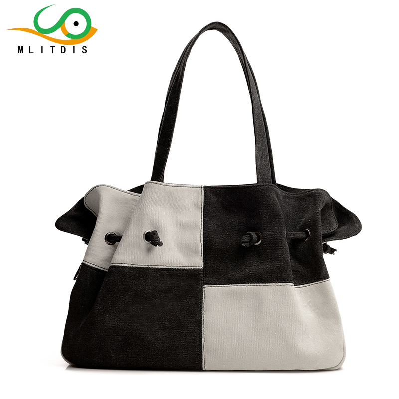 ФОТО MLITDIS Designer Luxury Handbag Women Bag Ladies Canvas Handbags Casual Tote 2017 Summer Women Canvas Bag String Bags For Girls
