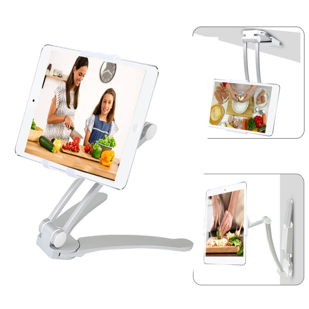 2-in-1 Kitchen Tablet Mount Stand Wall Mount Desk stand Phone Holder for ipad Pro 9.7 5-10 inch Tablet PC цена и фото