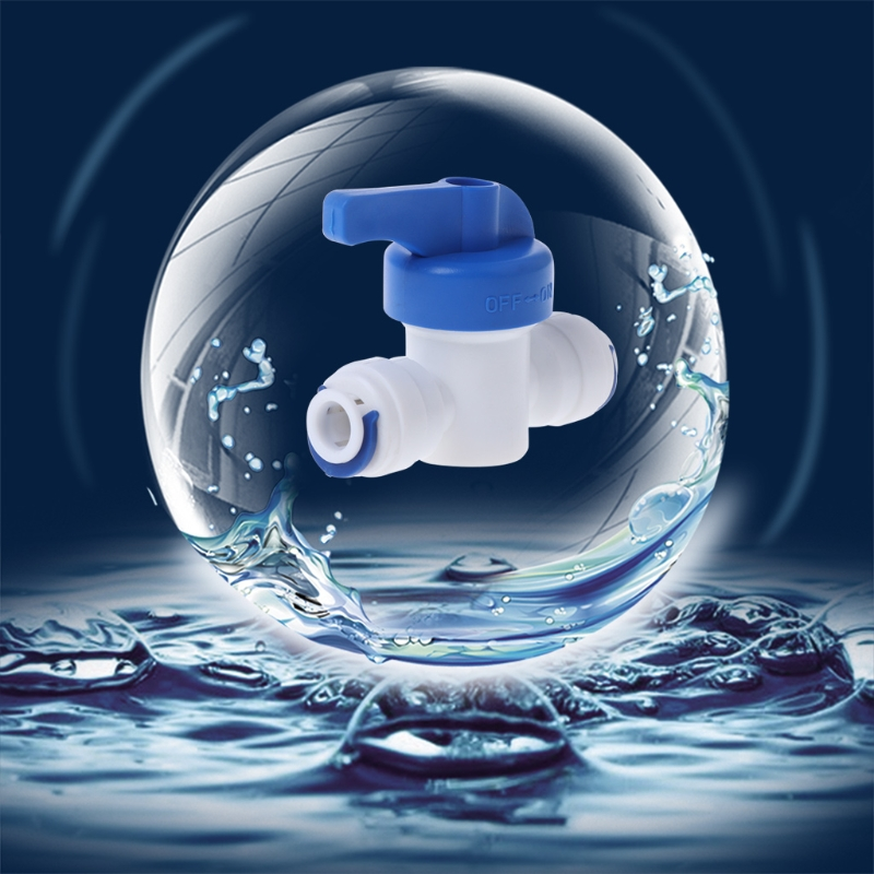 1/4 Inline New Ball Valve Quick Connect Shut off For RO Water Reverse Osmosis