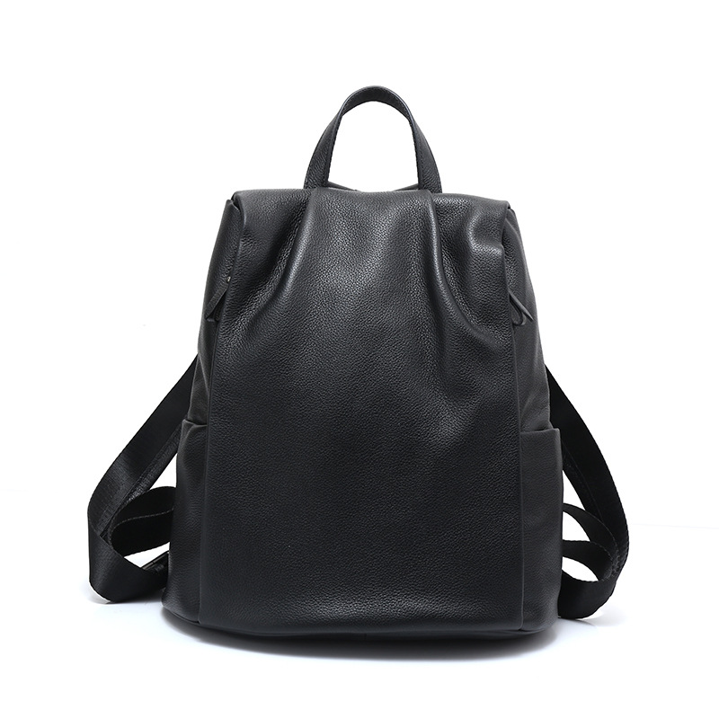 Fashion 100% Real Soft Genuine Leather Women Backpack Female Preppy Style Ladies Laptop Bag Girls Notebook Mochilas Mujer mochilas designer genuine leather bag mochila ciclismo preppy style multifunction men canvas bag fb1125