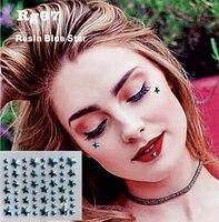 RG07 Blue Star Resin DIY stick on Under Eye Face Jewels Sticker Lip Makeup  Decor Sticker 632f4f73a6e6