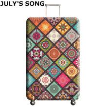 JULYS SONG elastyczny najgrubszy pokrowiec na bagażnik zastosowanie do 18-32 Case walizka ochronna pokrywa Akcesoria podróżne tanie tanio 74cm Poliester Odbitki zwierzęce PIOSENKA LIPCA 400g AAB0970 50cm 28cm dla 18-20 cala walizka dla 22-24 cala walizka dla 26-28 cala walizka