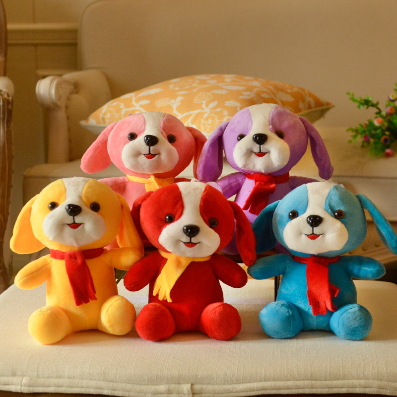 2018 New Staffed Doll 25CM Lucky Dog Xmas Gift Staffed Animal Toy Pillow Plush Toy Factory Sale Wholesale A-149