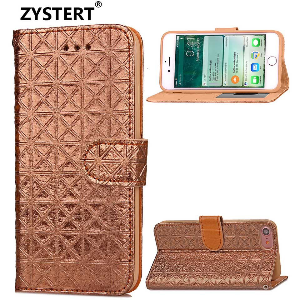 For IPhone 7 & 8 4.7 Phone Case Intersected Figure Design Leather Flip Cover Case For IPhone 7 & 8 4.7 Phone Case Funda