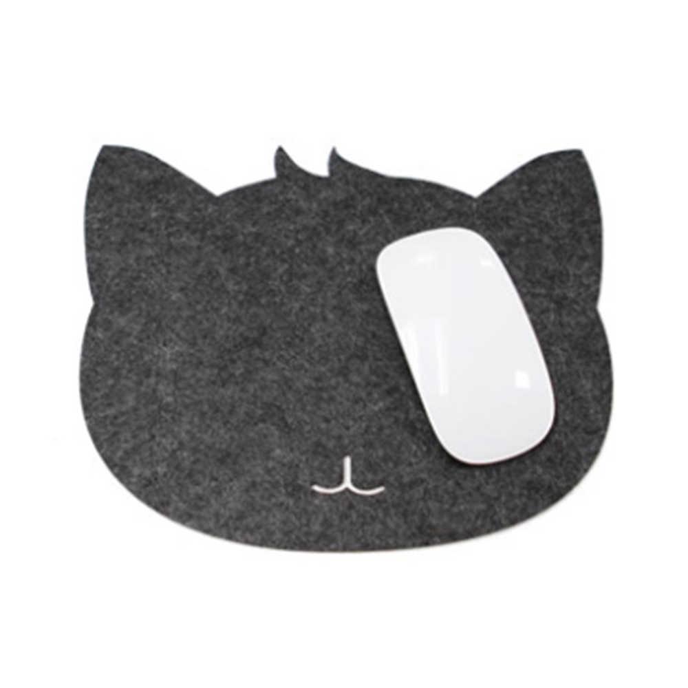 1 pc マウスパッド光学式トラックボール pc 厚みフェルト布 220*220*3 ミリメートルユニバーサルかわいい猫マウスパッドマットのラップトップコンピュータ、タブレット pc