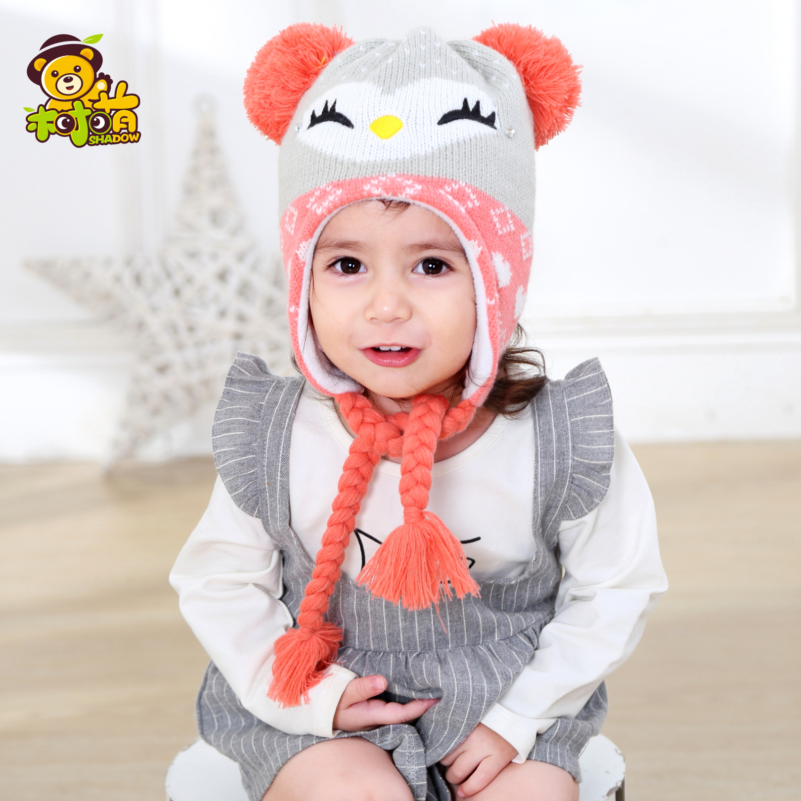 6748c5ade4ef6 2017 New Children Knit Hat Winter Baby Girls Boys Beanie Hat Ear Flap  Fleece Lining Toddler Kids Warm Hat-in Hats   Caps from Mother   Kids on ...