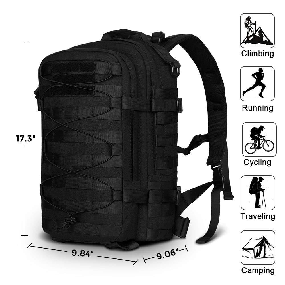 Sac à dos tactique Molle militaire assaut Pack Nylon Trekking sac à dos ordinateur portable sac à bandoulière pour voyager Camping randonnée escalade - 2