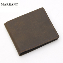 MARRANT Vintage Crazy Horse Leather Men Wallets Short Brand Wallet Money Wallets Card Holder Man Purse Coin Bags Free Shipping