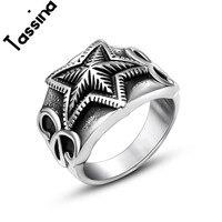 Tassina Star Trail Stackable Finger Ring For Women Personality Punk Silver Black ColorStarshine Star Engagement Rings