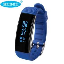 Huiniu Bluetooth Водонепроницаемый SmartBand крови Давление Smart пульсометр сигнализации вызова напоминание браслет для iOS и Android