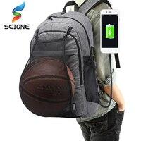2017 Hot Multifunction Basketball Outdoor Backpack Man Sport Bag Gym Bag Laptop With Basketball Net USB