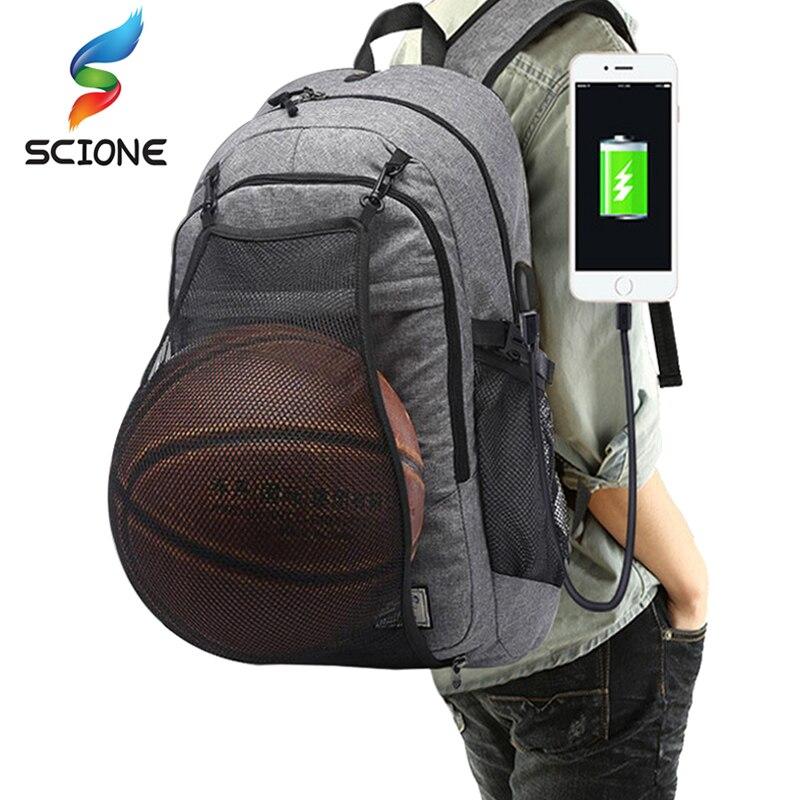 Outdoor herren Sport Sporttaschen Basketball Rucksack Schultaschen Für Teenager Jungen Fußball Pack Laptop-tasche Fußball Net Gym tasche