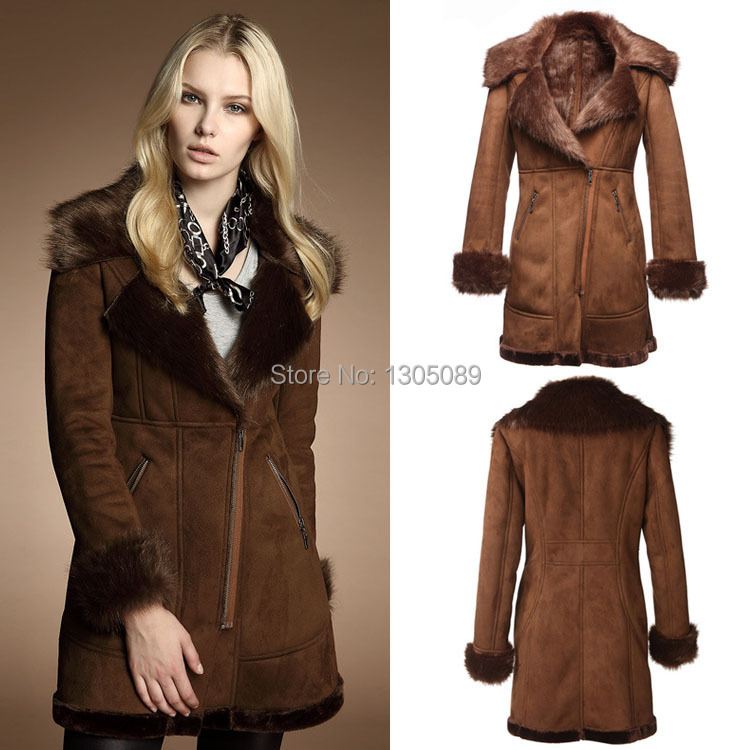 Winter New Plus Size European Style Super Retro Fur One Jacket Fur Collar Slim Warm Leather