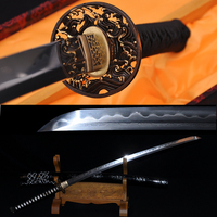 Top quality japoński samurai sword katana glina hartowane damaszek zagięta steel full tang ostrza importowane sageo saya hurtownie