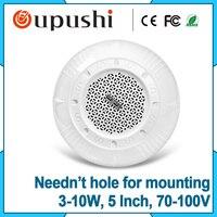 6 Inch PA System Hotel Hall Speaker Ceiling ABS 100v Ceiling Speaker KS811