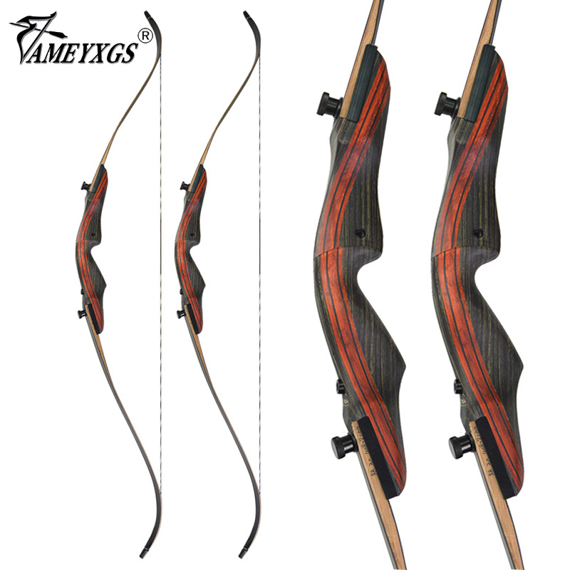 """62/"""" Archery American Hunting Bow Takedown Recurve Bow Wooden 20-50lbs"""
