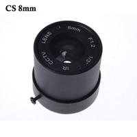 Wholesale CCTV CS LENS 8mm 40degrees 1 3 F1 2 CCTV Fixed Iris IR Infrared CS
