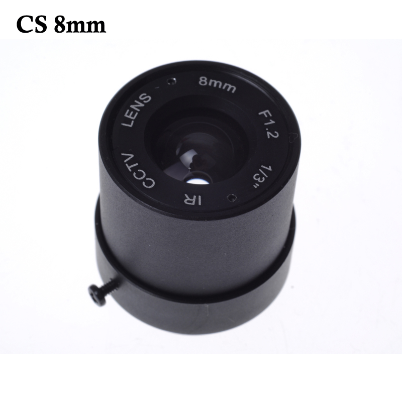 Wholesale CCTV CS LENS 8mm 40degrees 1/3 F1.2 CCTV Fixed Iris IR Infrared CS Mount Lens For Security CCTV Camera free shipping 6 pcs 1 3 f1 6 cs fixed iris 16mm ir lens cctv camera professional lens