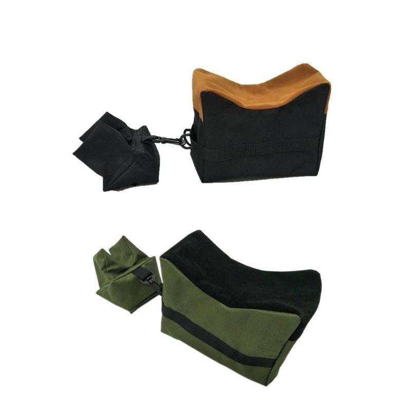 Frente & traseiro saco de apoio rifle saco de areia sem areia sniper alvo suporte caça acessórios oxford pano saco de areia para caça atirar