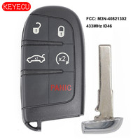 Keyecu Smart Remote Key Fob 5 Button Replacement for Fiat 500L, Jeep Renegade 2015 2019 FCC: M3N 40821302