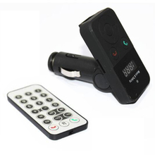 Llamadas de Soporte de Manos Libres Bluetooth Car Kit Reproductor de MP3 Inalámbrico Modulador U disco tarjeta SD LCD Remoto USB FM Cargador de Coche transmisor
