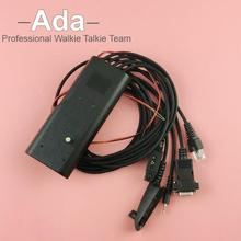 NEW 5 in 1 Programming Cable link computers with walkie talkie for GP300 CP040 CT150 GP1280 GP140 GP238 GP240 GP280Two way Radio