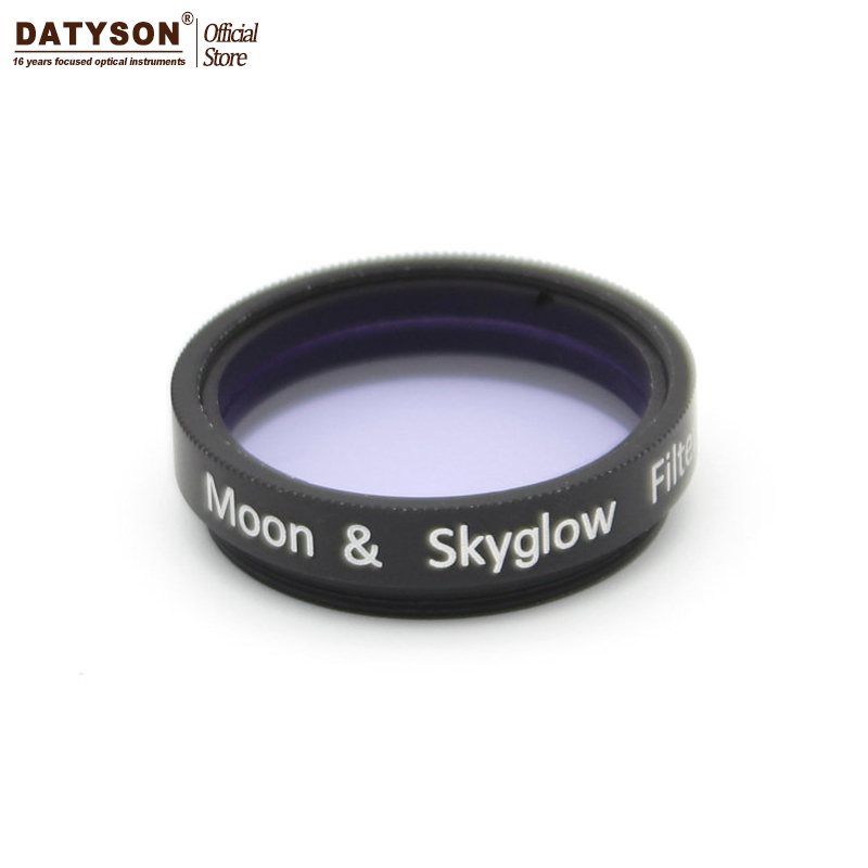 1.25 inch Moon and Skyglow Filter for Astromomic Telescope Eyepiece Ocular - Metal Frame - Optical Glass metal moon and star shap cuff ring