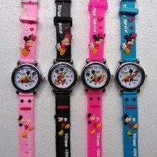 Детская Любовь Смотреть Топ бренд Микки дети часы кварцевые наручные часы для мальчиков девочек студентов часы Человек-паук ребенок часы