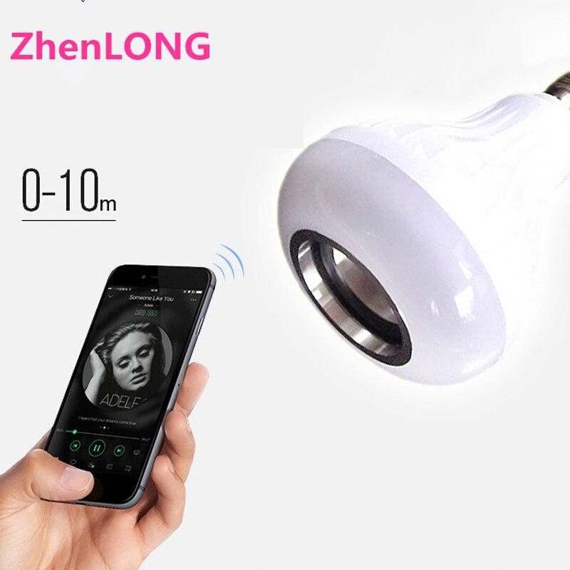 E27 Smart RVB RGBW Sans Fil Bluetooth Haut-Parleur Ampoule Musique Jouer Dimmable LED Ampoule Lampe avec 24 Touches À Distance Contrôleur