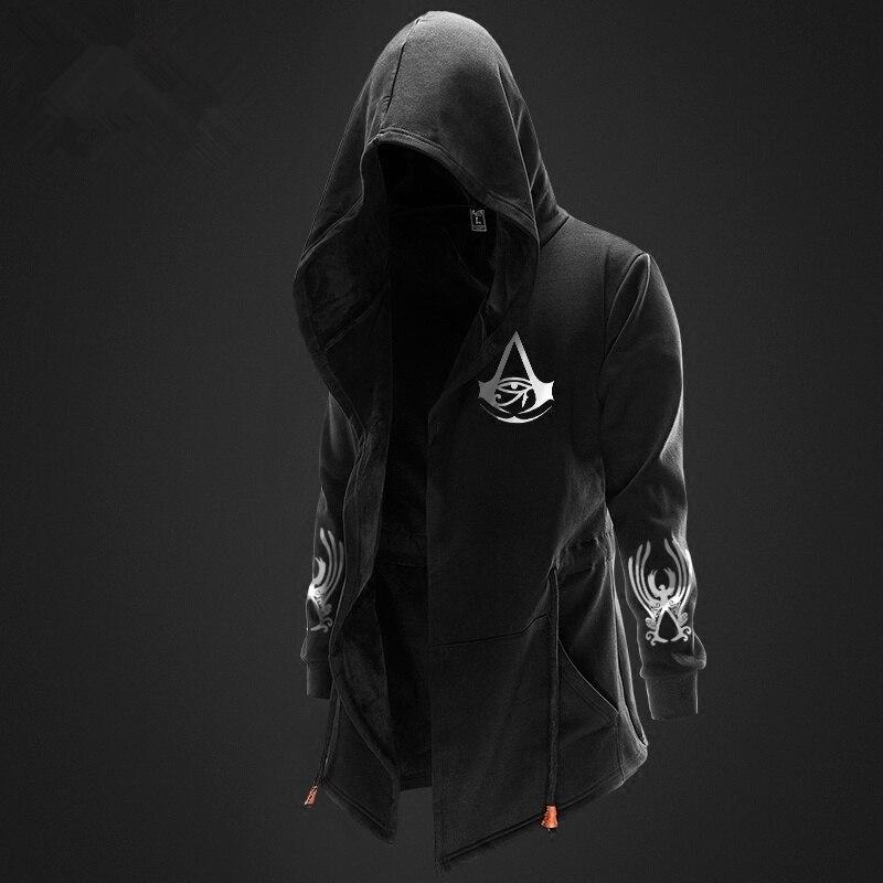 Zogaa Men Hoodies Sports Casual Wear Fashion Tide Hooded Jacket Casual Wear Clothes Hoody Jacket Assassin Master Streetwear