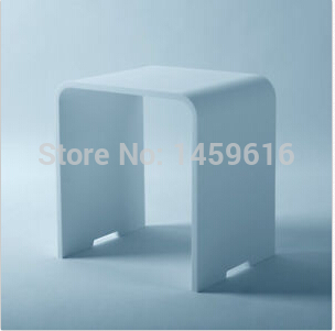 Bathroom solid surface stone stool use for sauna rooms and shower enclosures bathing chair wd112