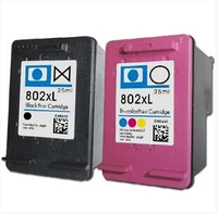 Free shipping for HP 802XL black and color ink cartridges for HP1000/1050/2000/2050/1010/1510 Ink jet printer