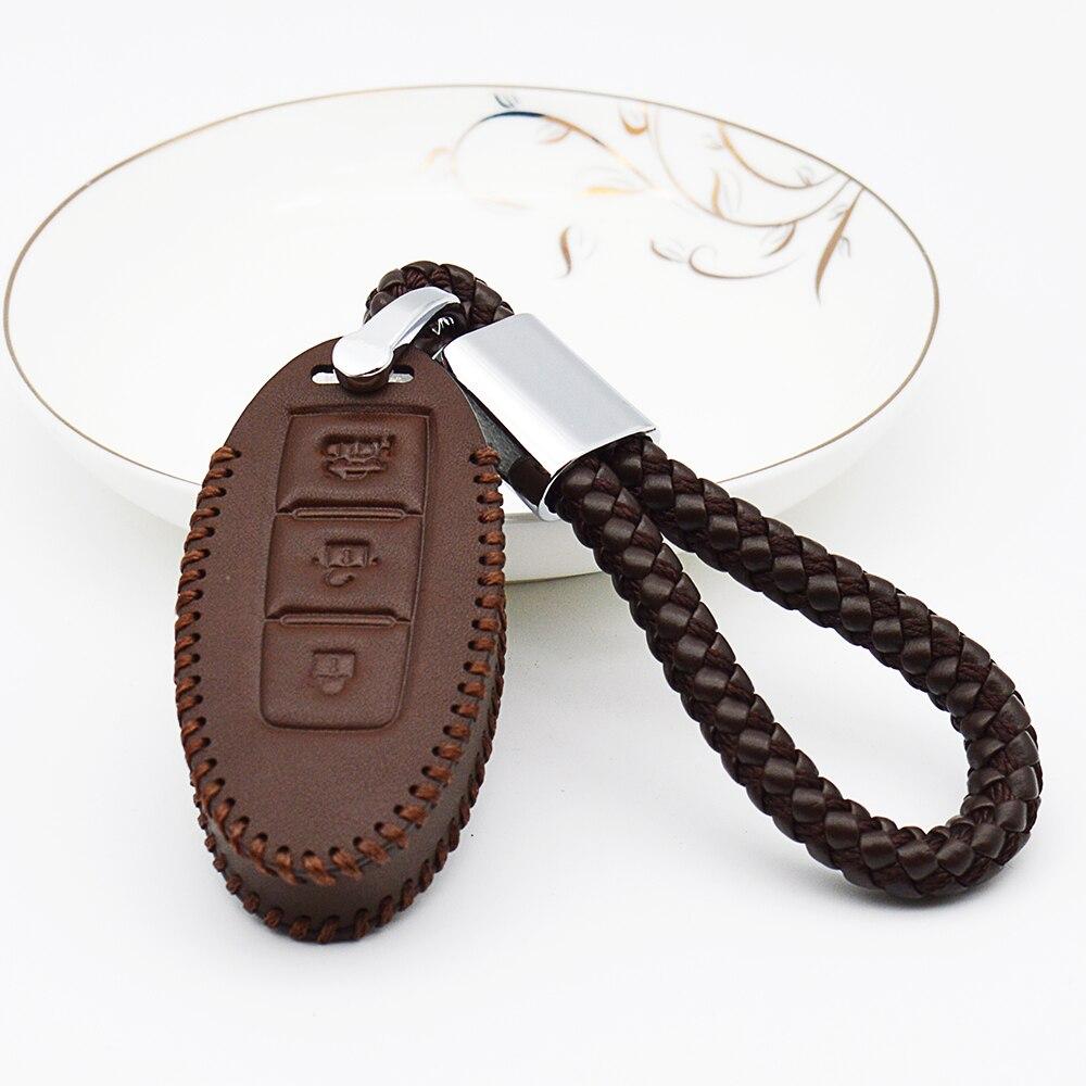 AJade Fashion Blue Braided Leather Cord Key Chain for BMW