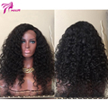 Indian Curly Lace Front Wig With Baby Hair Glueless Full Lace Curly Human Hair Wigs For Black Women 130 Density Bleached Knots