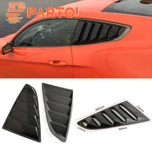 Partol Car Styling Car Sticker 1/4 Quarter Side Window Louvers Scoop Cover Vent for Ford Mustang 2015 2016 2017 2018(China)