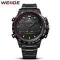 Mens Watches WEIDE Luxury Brand Steel Quartz Clock Men Digital LED Watch Army Military Sport Watch Male relogio masculino 2017
