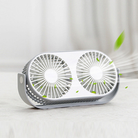 Mini USB Fan Gadget Double Leaf Cooling Fan with Aromatherapy Portable USB Ventilador Desktop Home Office Electric Fan Summer