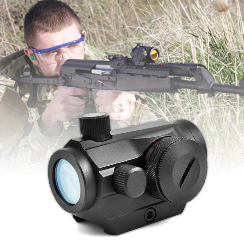 Red Dot Scopes Sight 20mm Mount Pistol Scope Optics Riflex Hunting Riflescopes Red Dot Airsoft Air Guns Scopes Holographic Sight 1x23x34 red dot scope hunting airsoft optics tactical optics air guns pistol sight scopes chasse holographic red dot sight